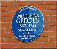 J3271 : Wilhelmina Geddes plaque, Belfast by Albert Bridge