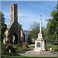 TF6219 : King's Lynn: Greyfriars Tower and the War Memorial by John Sutton