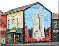 "J3274 : ""Ulster Tower"" mural, Belfast by Albert Bridge"