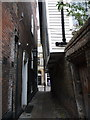 TQ7468 : Rochester: Two Posts Alley arrives at the High Street by Chris Downer