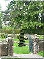 O0936 : Sunken Garden by Carroll Pierce