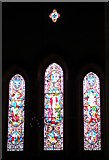TQ1711 : West window, St. Andrew's, Steyning by nick macneill