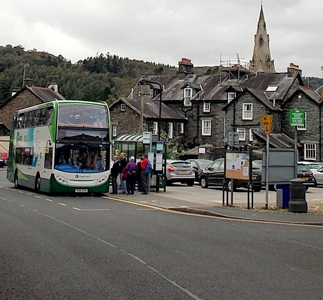 Stagecoach Cumbria double-decker in Ambleside