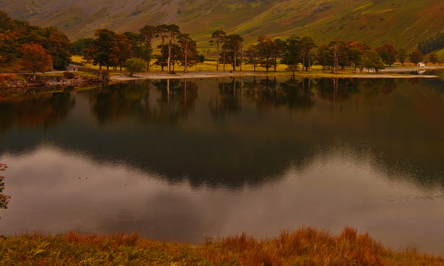 Lower Gatesgarth end of Honister Path Lake Buttermere