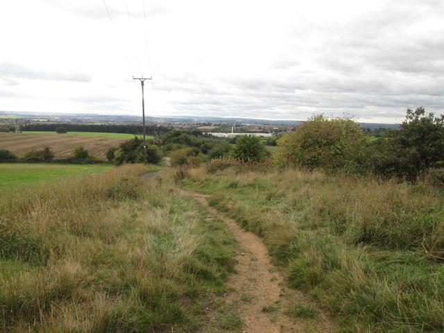 Footpath southwest of Brierley