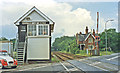 TF0997 : Holton-le-Moor: station remains and signalbox, 1997 by Ben Brooksbank