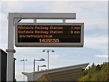 SD9311 : Metrolink Information Sign, Newhey Station by David Dixon