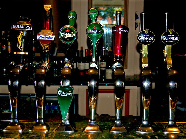 Conrad Hotel - Beer Taps in Lower Level... © Joseph