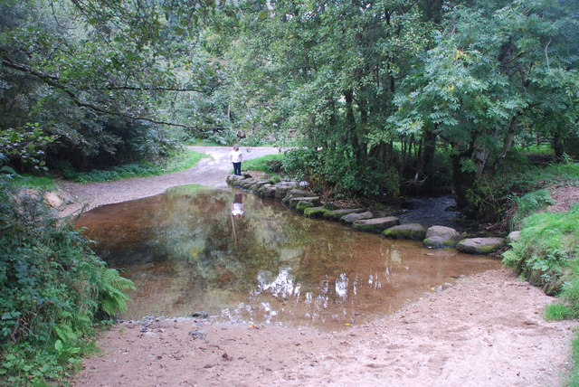 Ford and Stepping Stones at North Bovey