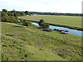 TL0692 : Looking down on The River Nene, Fotheringhay by Richard Humphrey