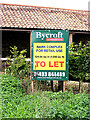 TM3093 : Estate Agent sign at Brickyard Farm by Adrian Cable