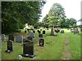 ST3996 : Path through Llantrisant churchyard by Christine Johnstone