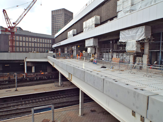 New Street station, east front, work in progress