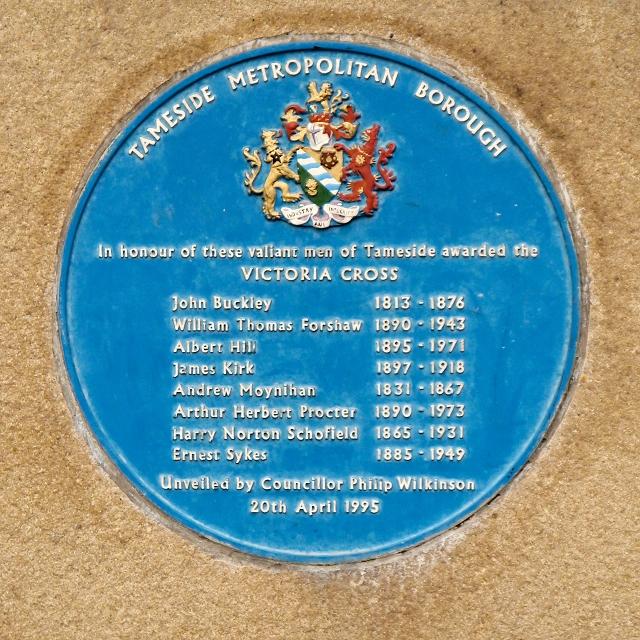 Victoria Cross Plaque, Ashton Town Hall
