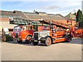 SD8912 : Old Fire Engines, Rochdale Fire Station Yard by David Dixon