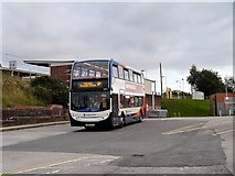 SD7807 : Metrolink Replacement Service at Radcliffe Tram Station by David Dixon