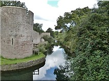 ST5545 : Eastern section of the moat, The Bishops Palace, Wells by Derek Voller