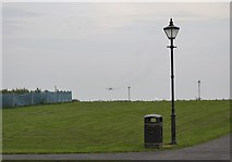 SD3727 : Transport Plane heading for Warton Airfield, viewed from Lytham Quays - 3 by Terry Robinson