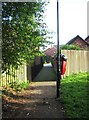 SO8474 : Footpath from Captain's Pool Road to Yellowhammer Court, Spennells, Kidderminster by P L Chadwick