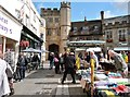 ST5545 : The market area of the High Street, Wells by Derek Voller