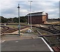 SJ4912 : Severn Bridge Junction signalbox Shrewsbury by Jaggery