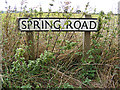 TM1042 : Spring Road sign by Adrian Cable