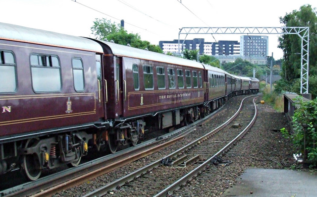 The Royal Scotsman at Partick railway station