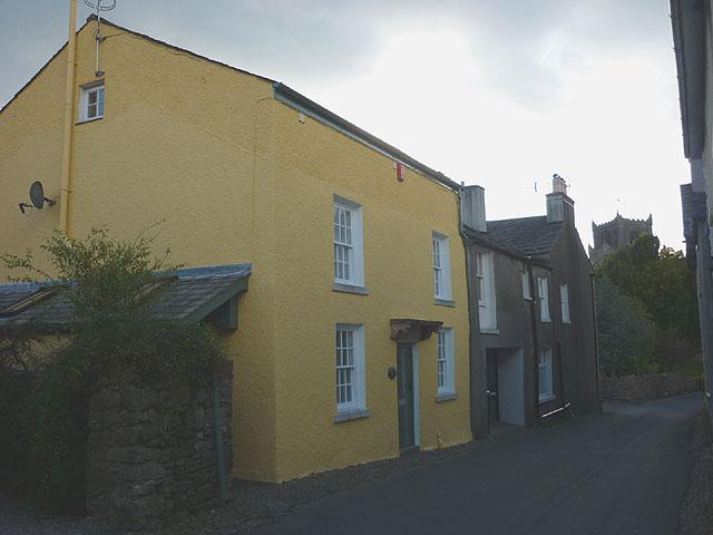 A yellow cottage, Priest Lane, Cartmel