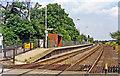 SK9367 : Hykeham station, Lincoln platform 1995 by Ben Brooksbank