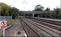 SJ6511 : Two bridges beyond the eastern end of Wellington railway station by Jaggery