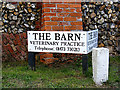 TM0940 : The Barn Veterinary Practice sign by Adrian Cable