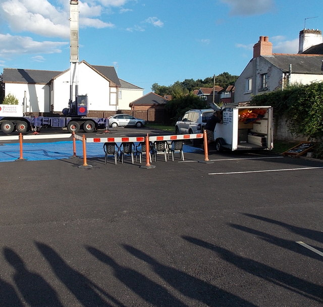 Five chairs for the Bungee jumpers, Three Horseshoes, Malpas, Newport