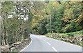 SH6841 : A496 at road junction west of Pont Tal-y-bont by John Firth