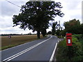 TM0744 : A1071 Back Lane & Park Farm Postbox by Adrian Cable