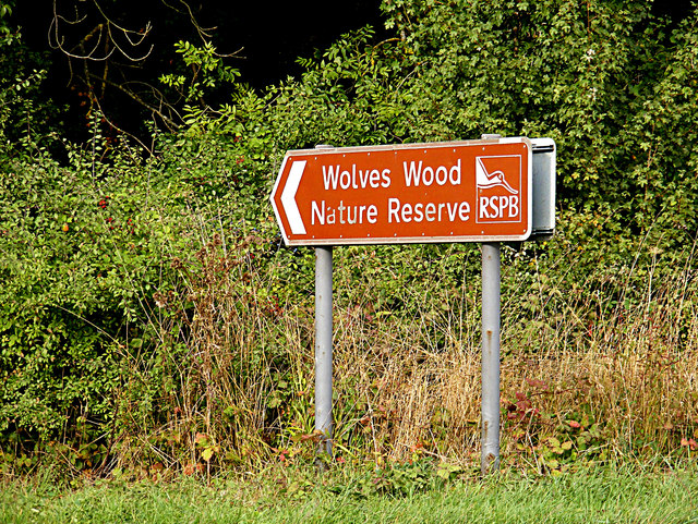 Wolves Wood Nature Reserve sign