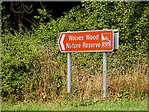 TM0543 : Wolves Wood Nature Reserve sign by Adrian Cable