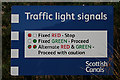 NS8579 : Traffic Lights with a difference. by Anne Burgess