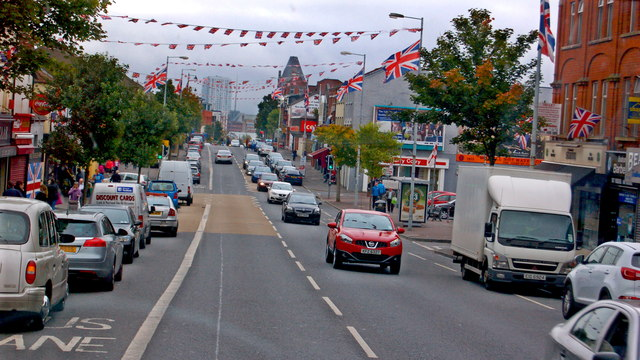 Belfast - Shankill Road - Protestant area