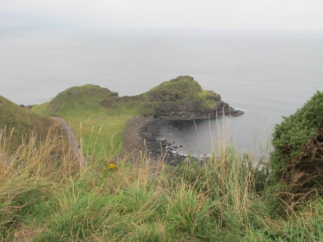The Great Stookan and the access road to the Giant's Causeway