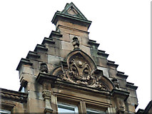 NS5964 : Decorated crow-stepped gable by Thomas Nugent