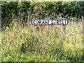 TM0042 : Coram Street sign by Adrian Cable