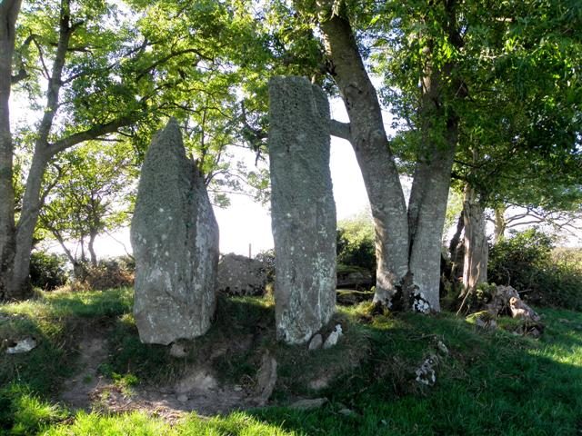 Standing stones and Megalithic Tomb, Inch Island