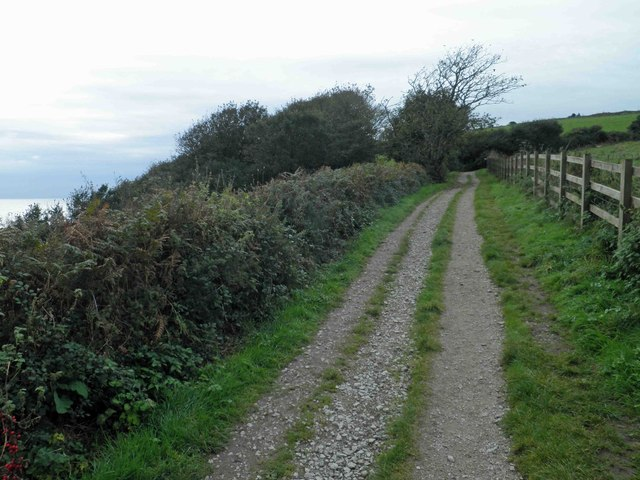 The South West coastal path heading towards Pennance Point