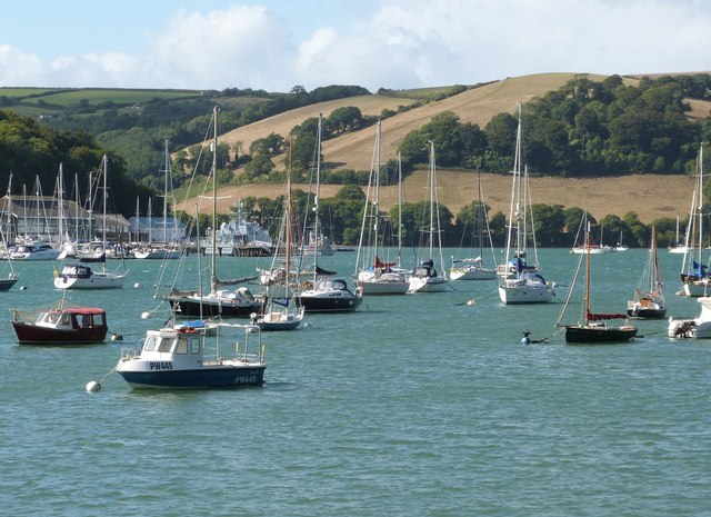 Looking across the River Dart towards Rough Point