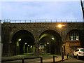 TQ3479 : Dockley Road railway bridge by Stephen Craven