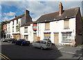 SJ6511 : Boarded-up properties in High Street Wellington by Jaggery