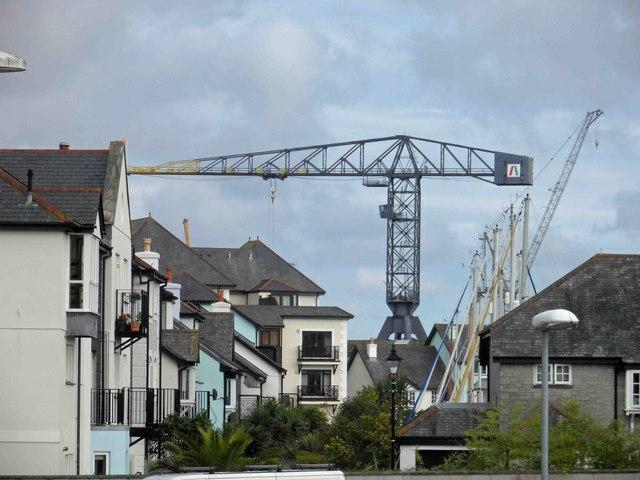 Falmouth dockside crane