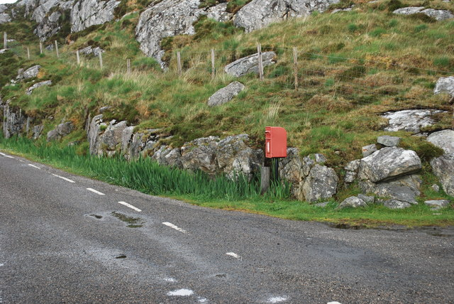 Postbox at the entrance of the campsite