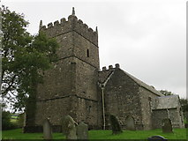 SS6744 : The church of St Petrock at Churchtown by Peter Wood