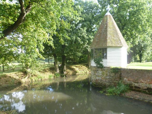 The moat at Sissinghurst Castle Garden